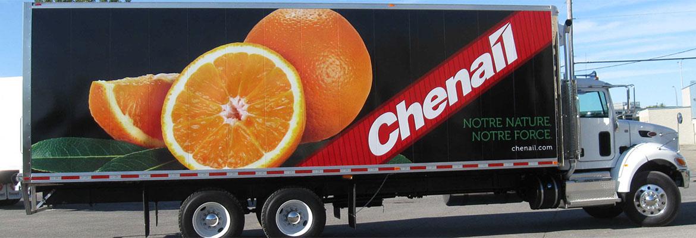 Imagerie sur camion